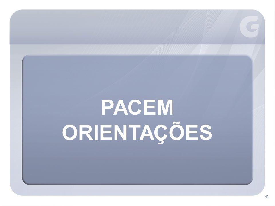 PACEM ORIENTAÇÕES