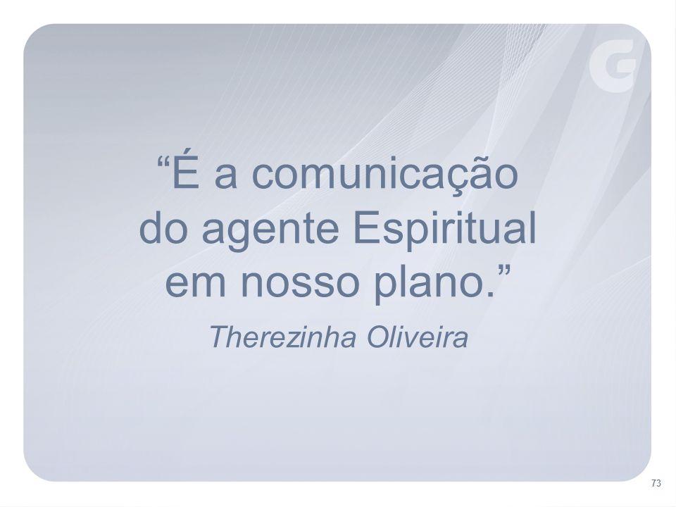 É a comunicação do agente Espiritual em nosso plano.