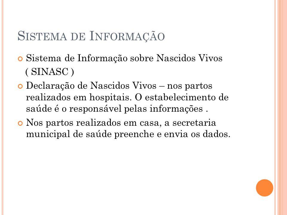 Sistema de Informação Sistema de Informação sobre Nascidos Vivos