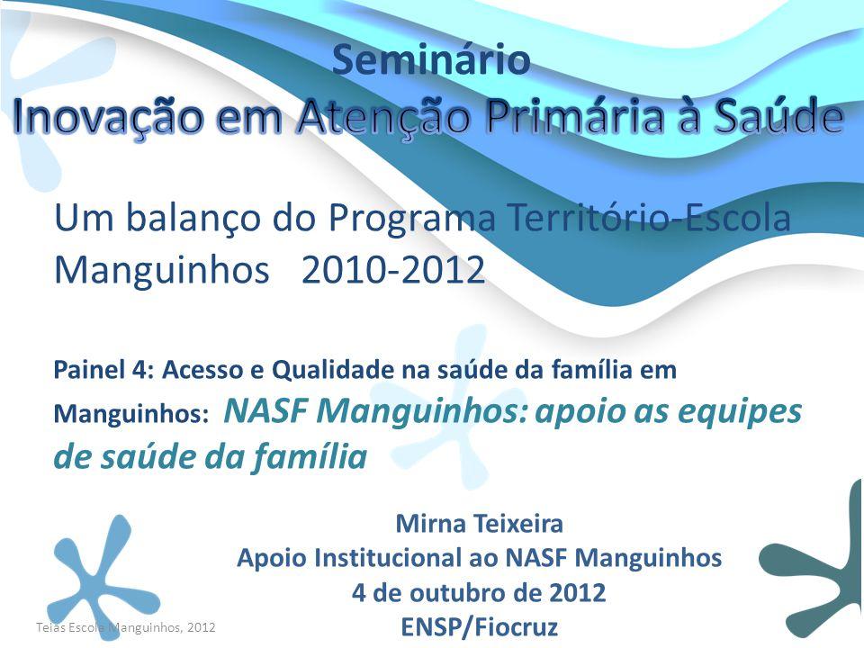 Apoio Institucional ao NASF Manguinhos