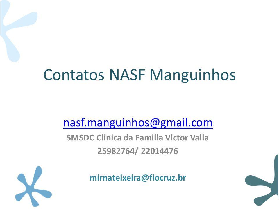 Contatos NASF Manguinhos