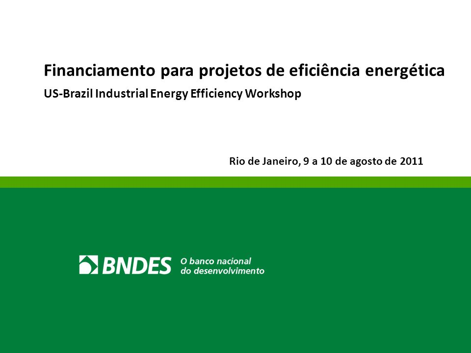 Financiamento para projetos de eficiência energética
