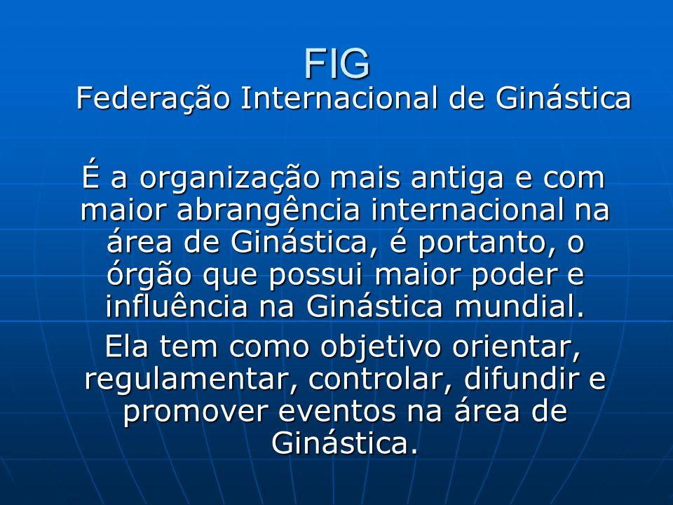 FIG Federação Internacional de Ginástica