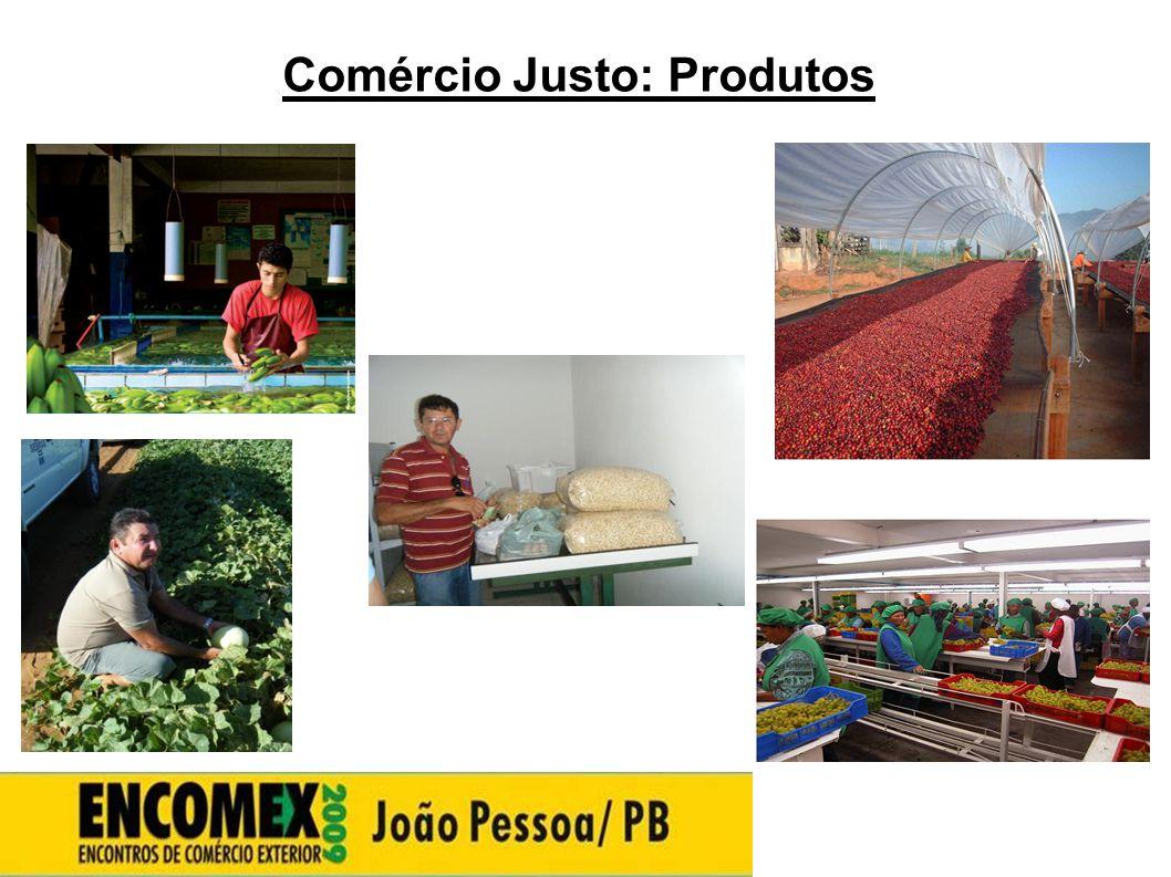 Comércio Justo: Produtos