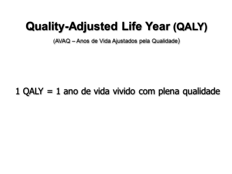 Quality-Adjusted Life Year (QALY)