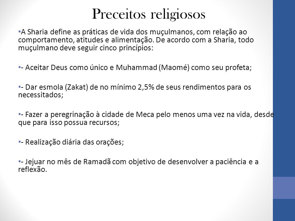 Preceitos religiosos