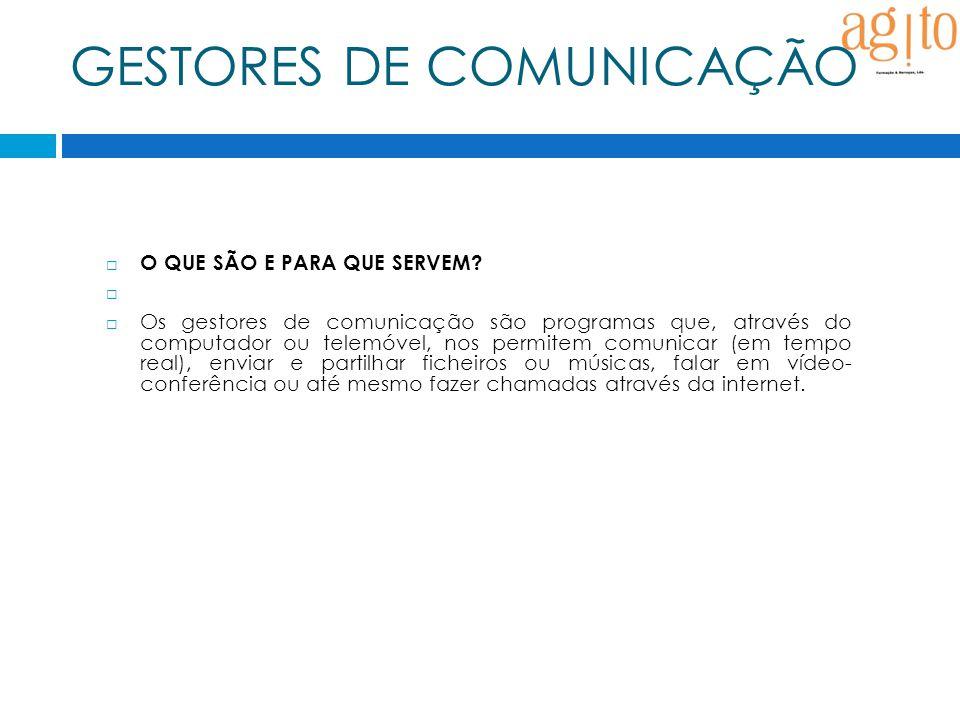 GESTORES DE COMUNICAÇÃO