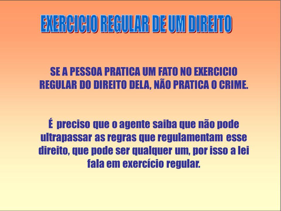 EXERCICIO REGULAR DE UM DIREITO