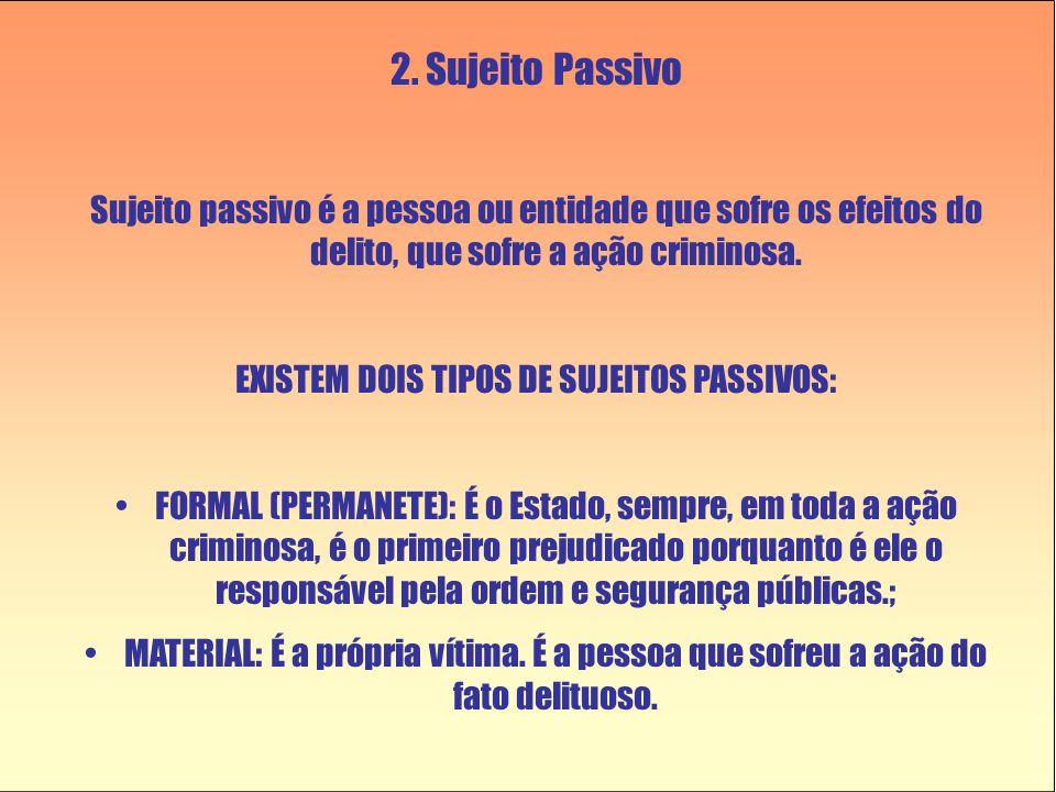 EXISTEM DOIS TIPOS DE SUJEITOS PASSIVOS:
