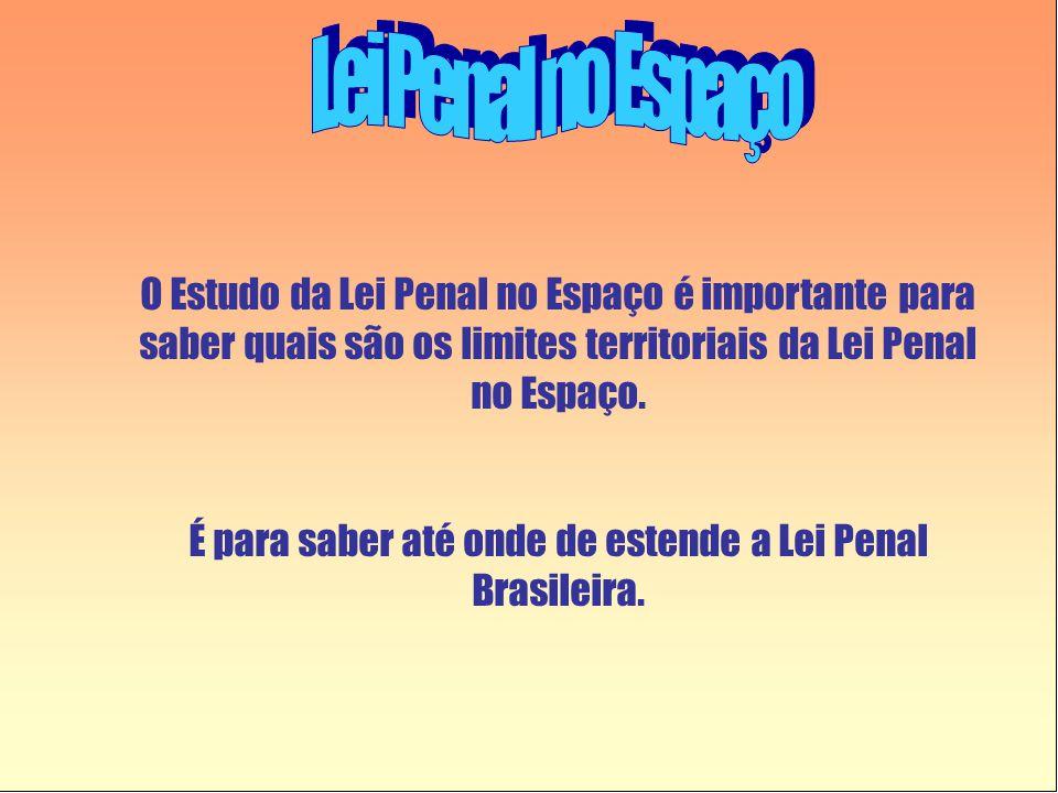 É para saber até onde de estende a Lei Penal Brasileira.