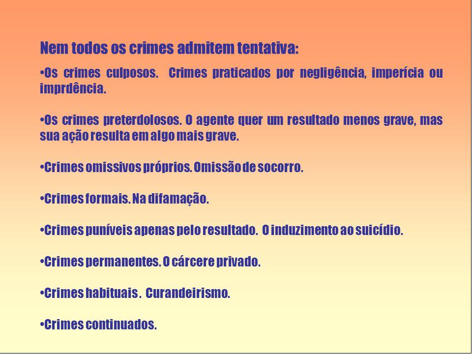 Nem todos os crimes admitem tentativa: