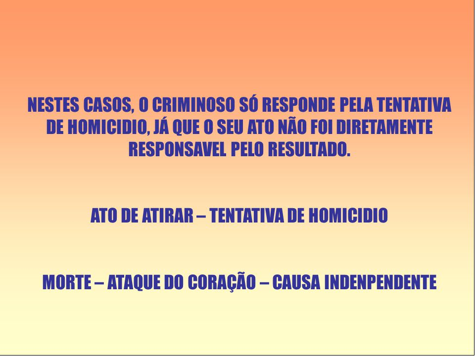 ATO DE ATIRAR – TENTATIVA DE HOMICIDIO
