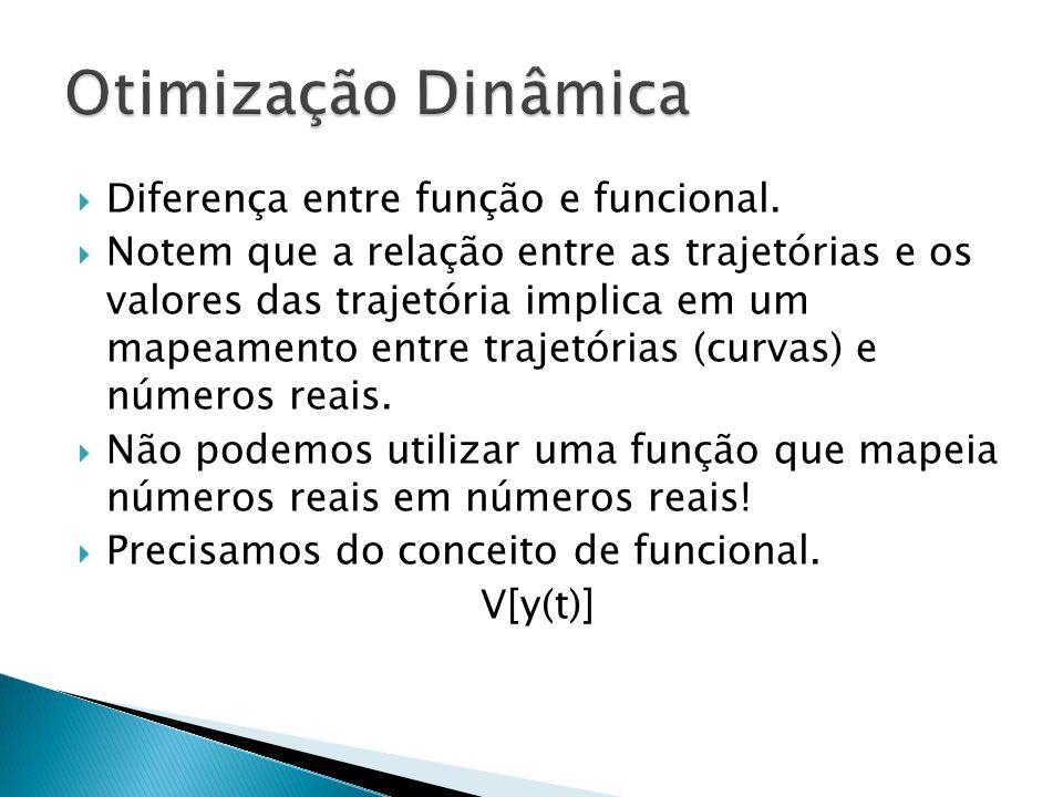 Otimização Dinâmica Diferença entre função e funcional.