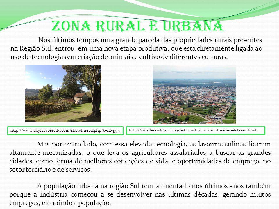 zona rural e urbana