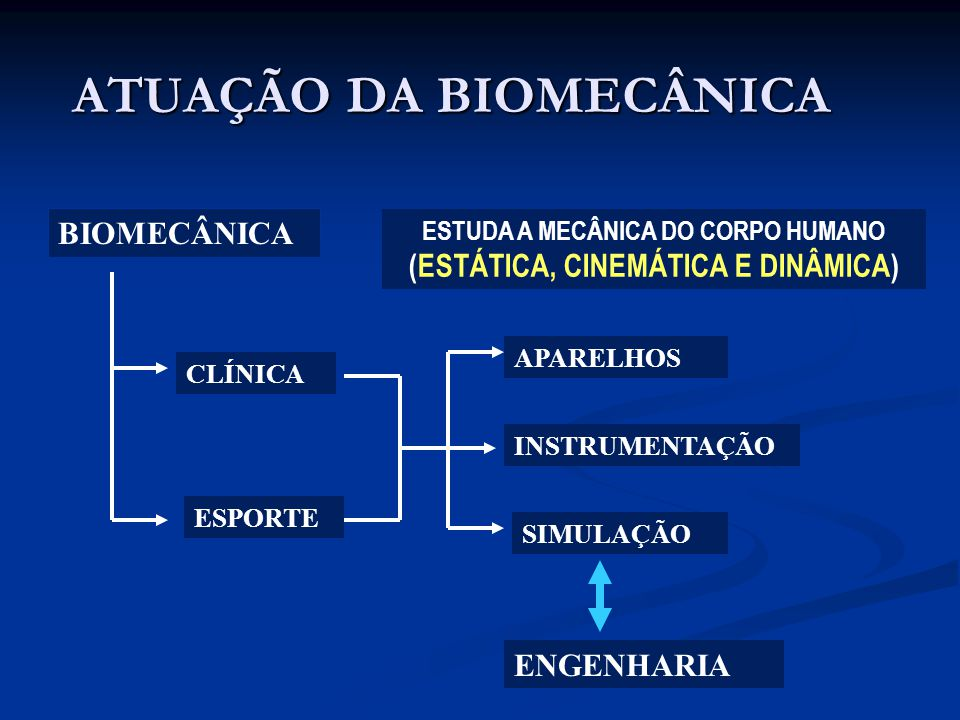 ATUAÇÃO DA BIOMECÂNICA