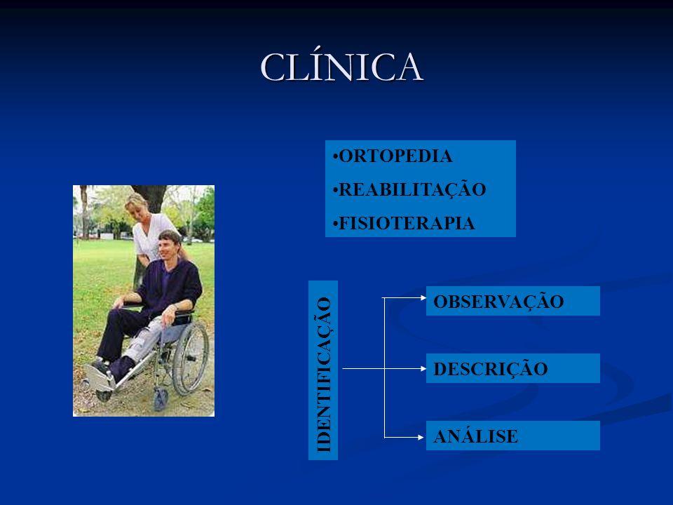 CLÍNICA ORTOPEDIA REABILITAÇÃO FISIOTERAPIA OBSERVAÇÃO IDENTIFICAÇÃO