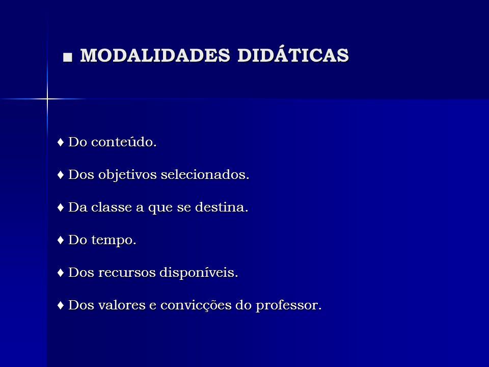 ■ MODALIDADES DIDÁTICAS