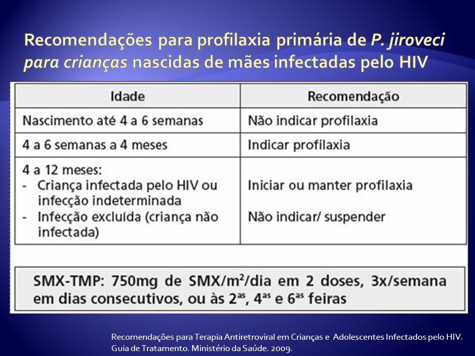 Recomendações para profilaxia primária de P