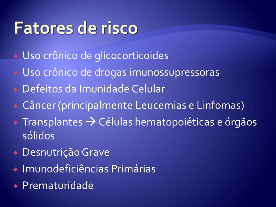 Uso crônico de glicocorticoides