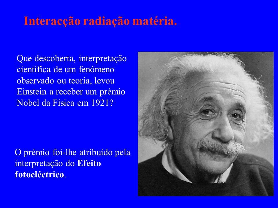 Interacção radiação matéria.
