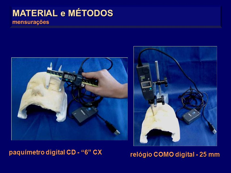 MATERIAL e MÉTODOS paquímetro digital CD - 6 CX
