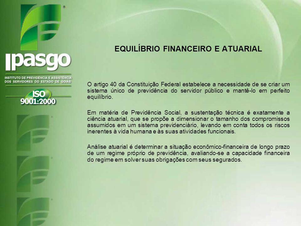 EQUILÍBRIO FINANCEIRO E ATUARIAL