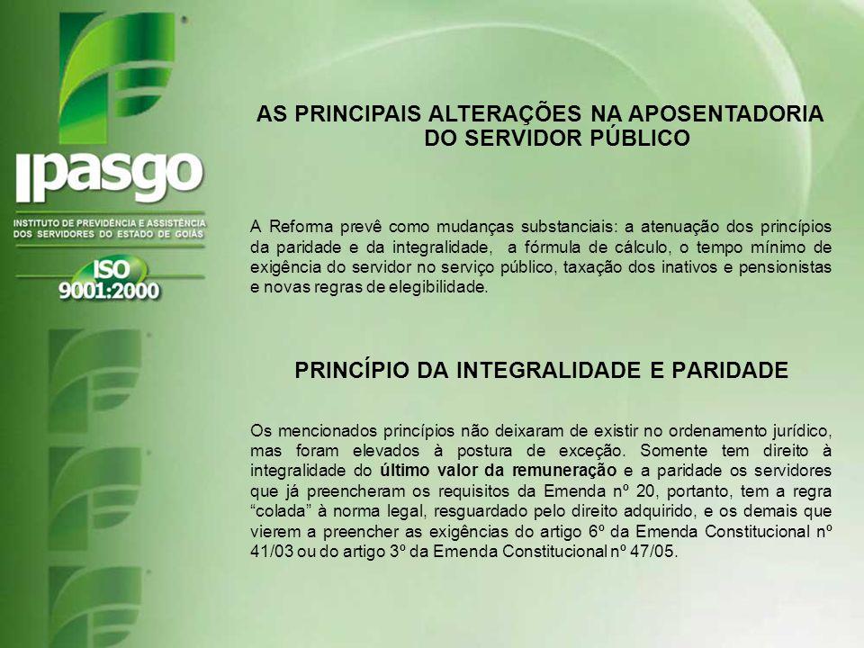 AS PRINCIPAIS ALTERAÇÕES NA APOSENTADORIA DO SERVIDOR PÚBLICO