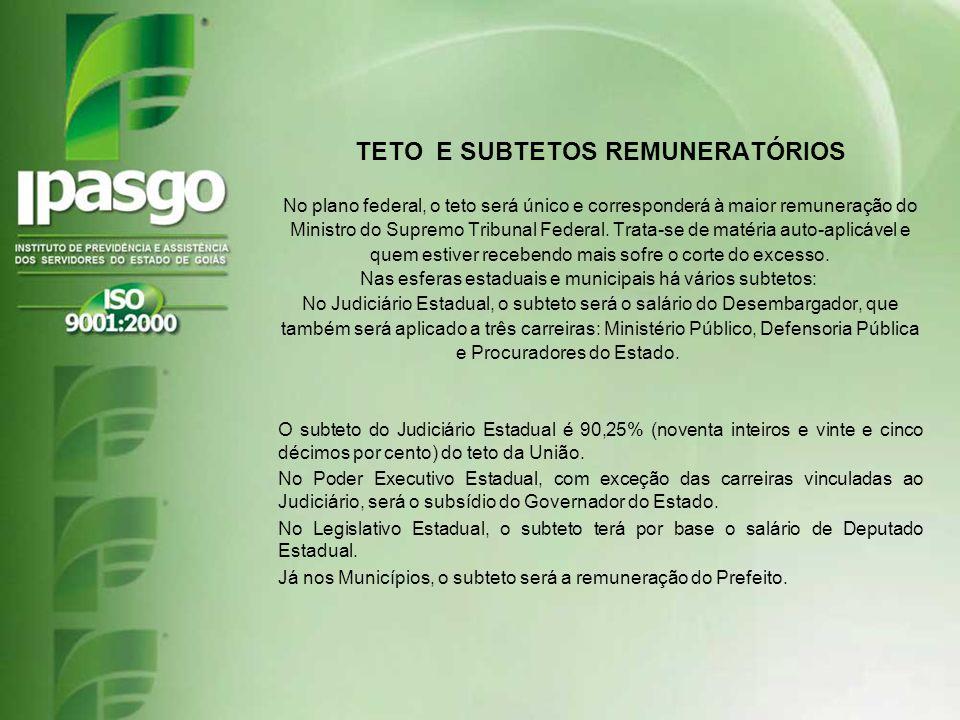 TETO E SUBTETOS REMUNERATÓRIOS