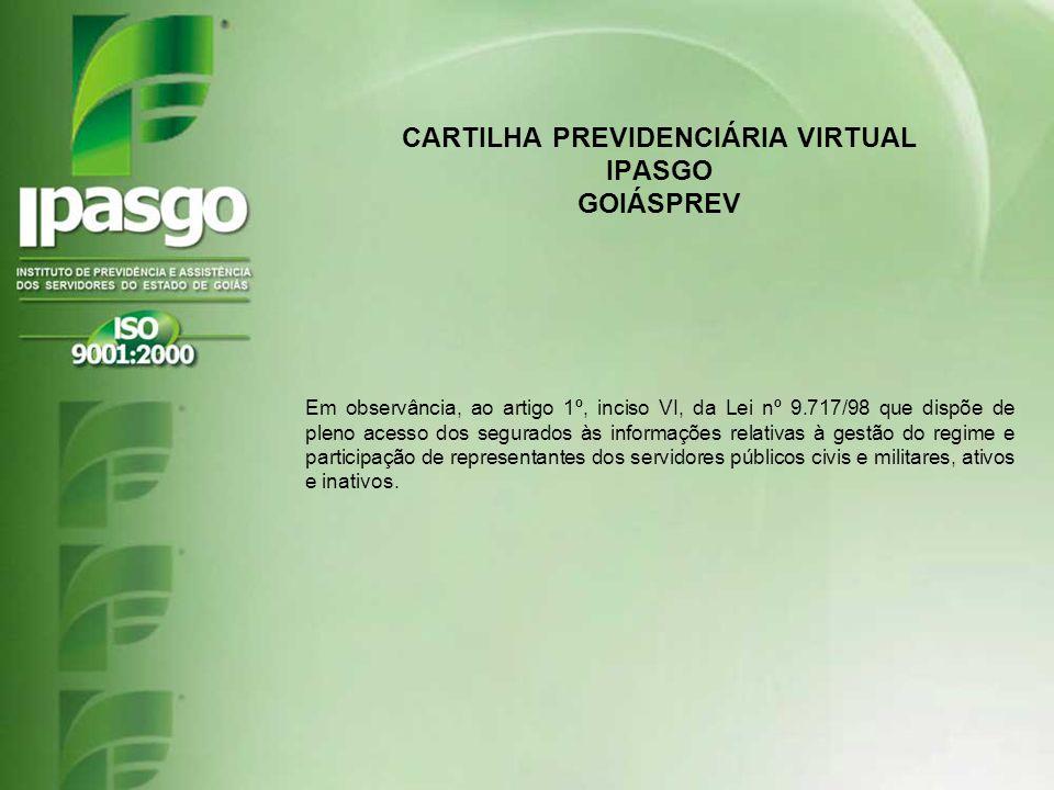 CARTILHA PREVIDENCIÁRIA VIRTUAL IPASGO GOIÁSPREV