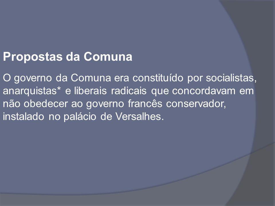 Propostas da Comuna