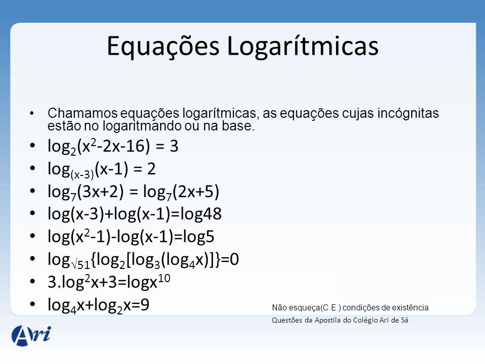 Equações Logarítmicas