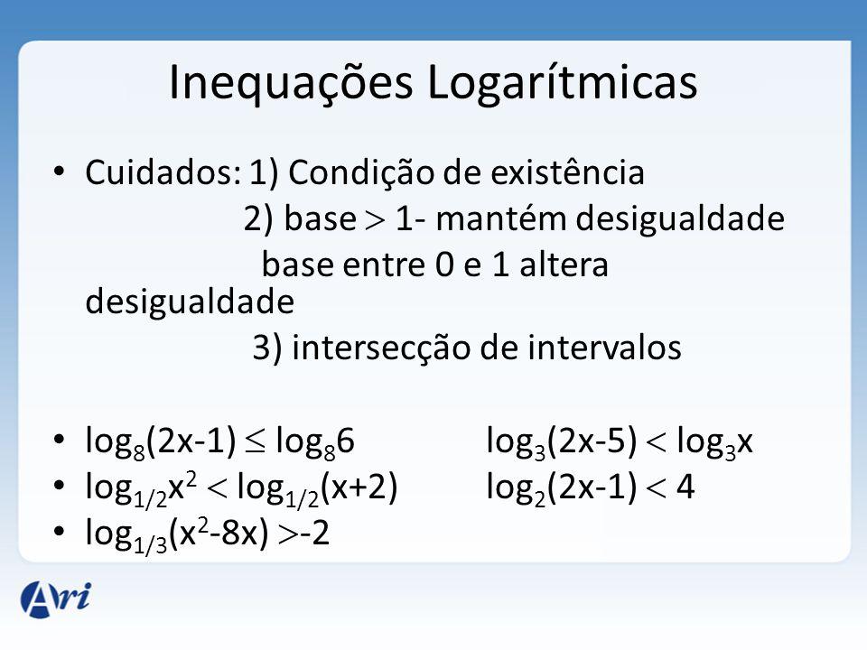 Inequações Logarítmicas