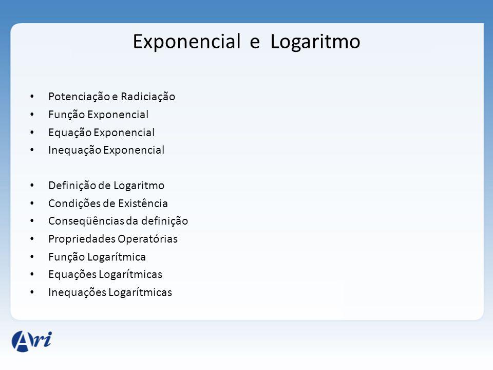 Exponencial e Logaritmo