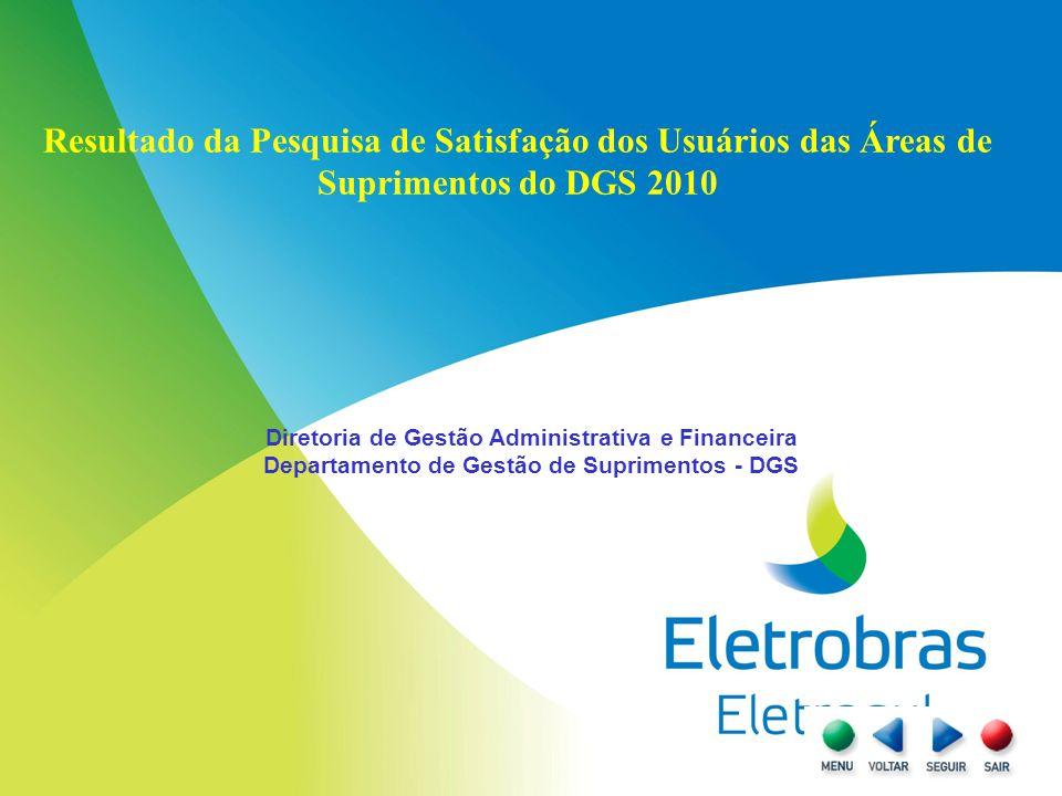 Resultado da Pesquisa de Satisfação dos Usuários das Áreas de Suprimentos do DGS 2010