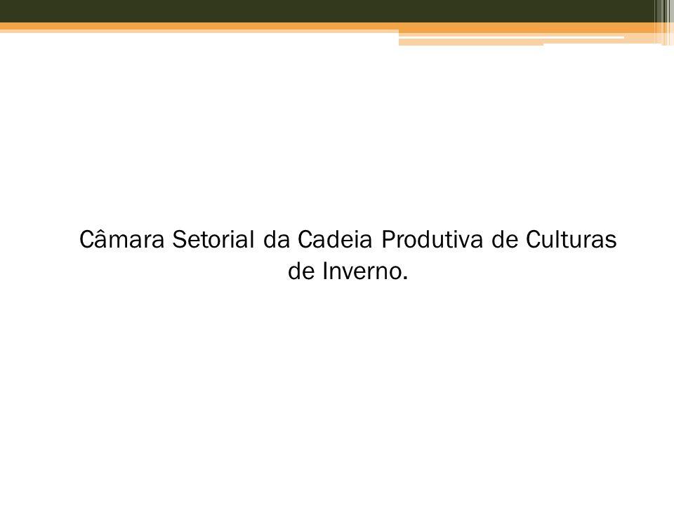 Câmara Setorial da Cadeia Produtiva de Culturas de Inverno.