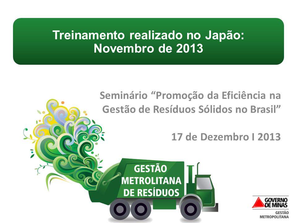 Treinamento realizado no Japão: Novembro de 2013