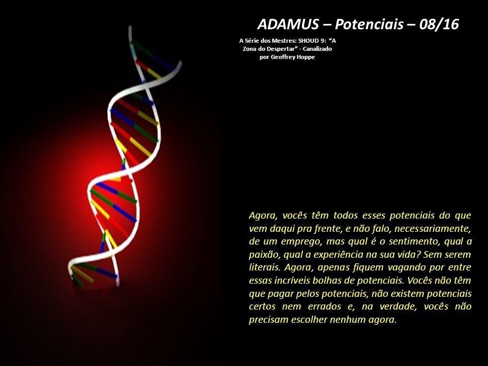 ADAMUS – Potenciais – 08/16 A Série dos Mestres: SHOUD 9: A Zona do Despertar - Canalizado por Geoffrey Hoppe.
