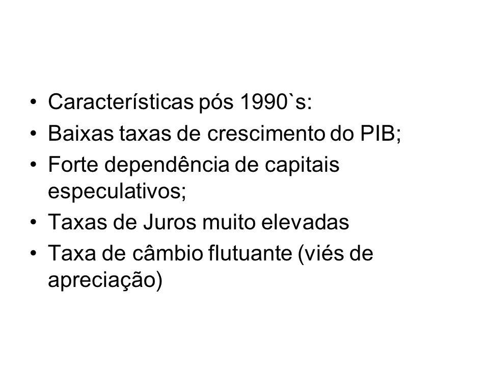 Características pós 1990`s: