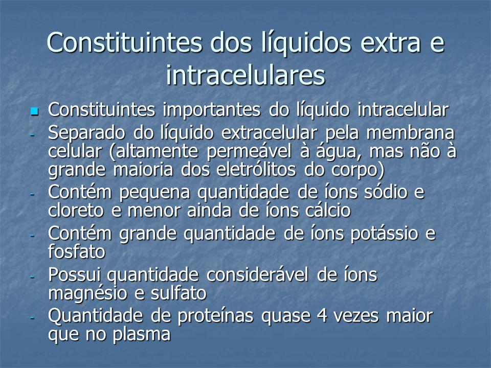 Constituintes dos líquidos extra e intracelulares