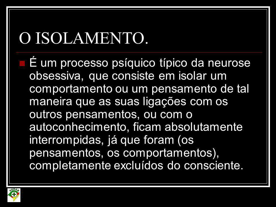 O ISOLAMENTO.