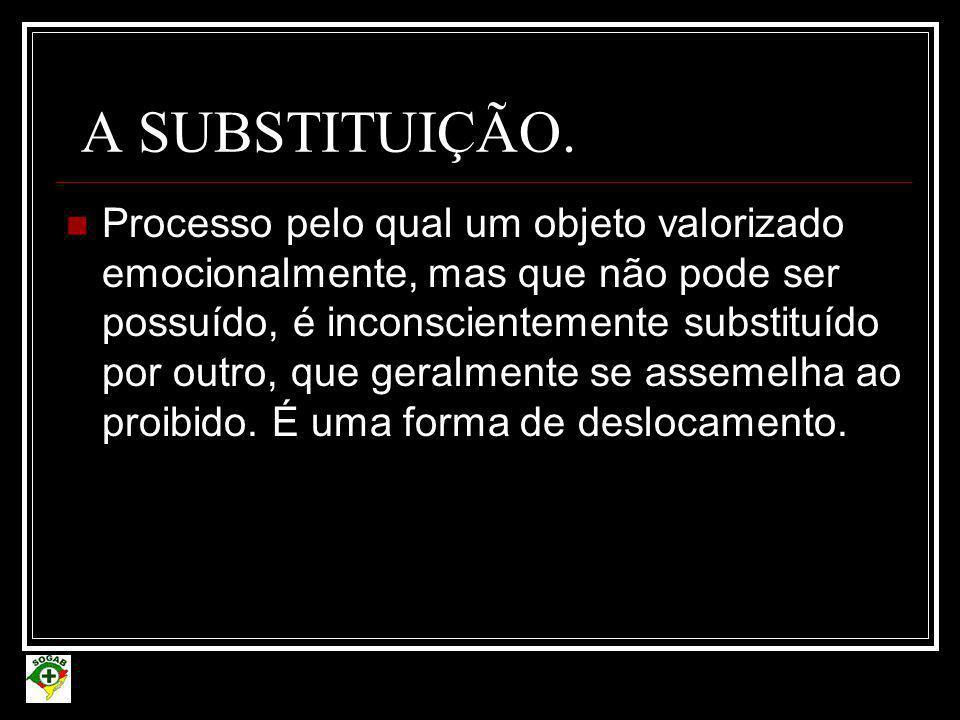 A SUBSTITUIÇÃO.