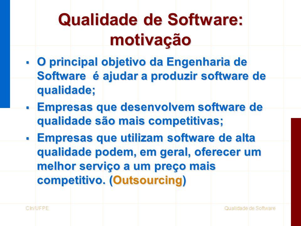 Qualidade de Software: motivação