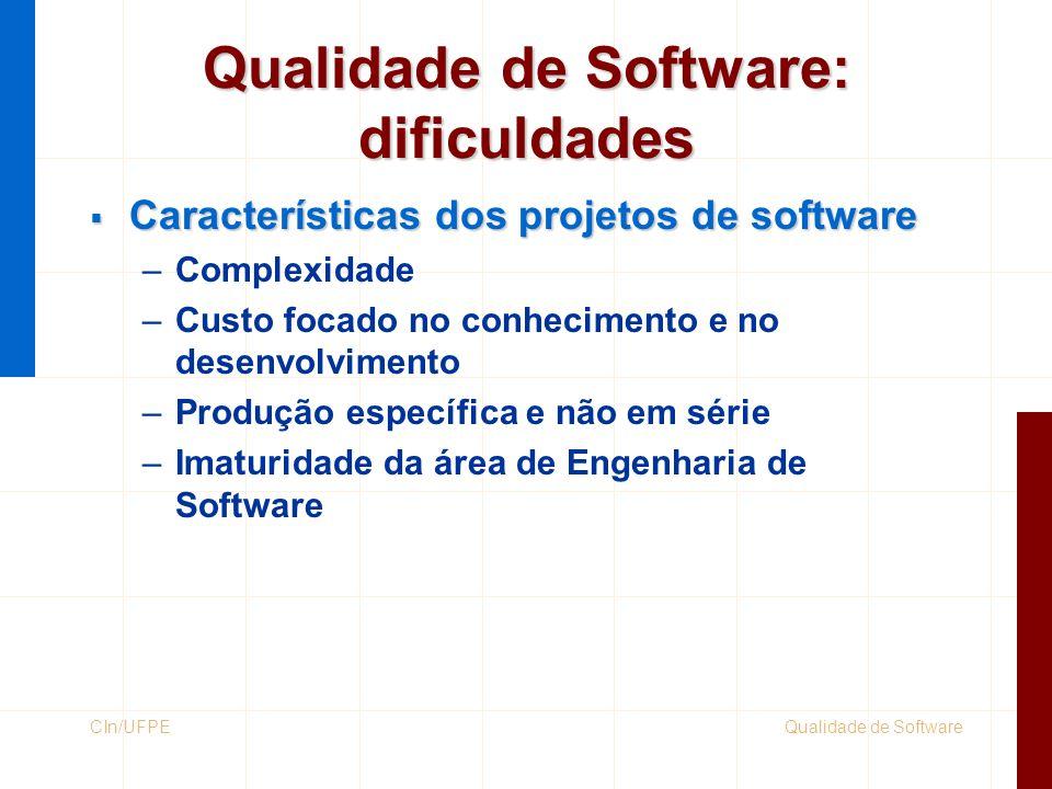 Qualidade de Software: dificuldades