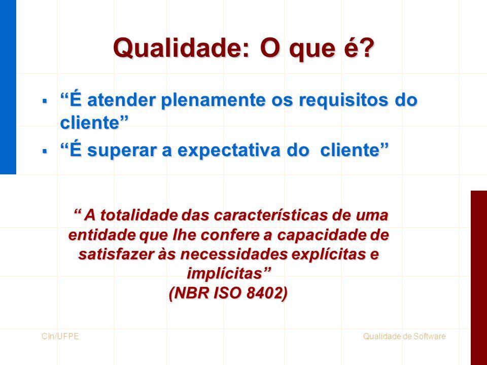 Qualidade: O que é É atender plenamente os requisitos do cliente