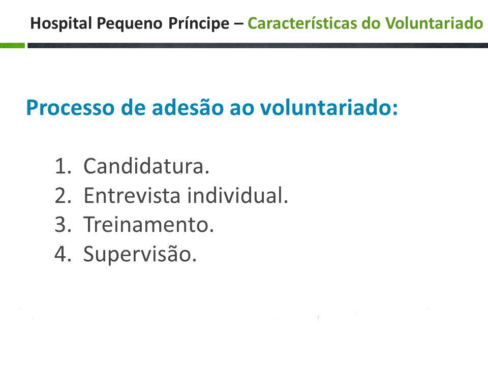 Hospital Pequeno Príncipe – Características do Voluntariado