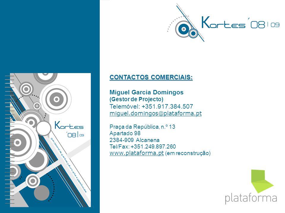 CONTACTOS COMERCIAIS: Miguel Garcia Domingos