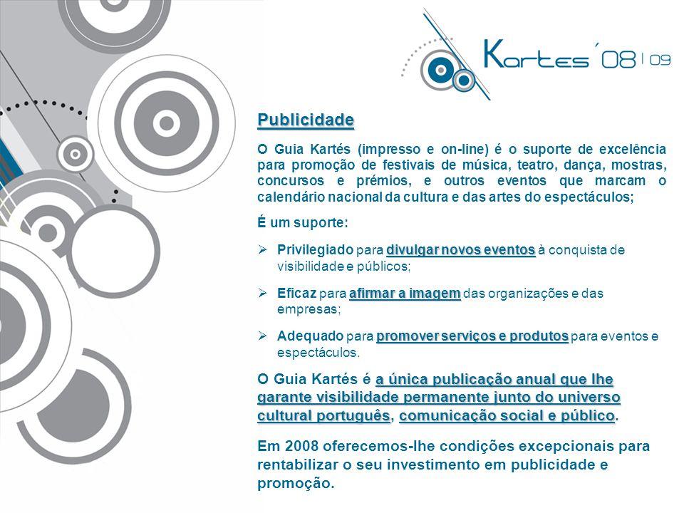 Publicidade Kartés'08 Guia Nacional de Eventos