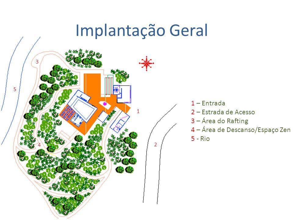 Implantação Geral 1 – Entrada 2 – Estrada de Acesso