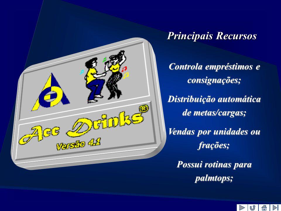 Principais Recursos Controla empréstimos e consignações;