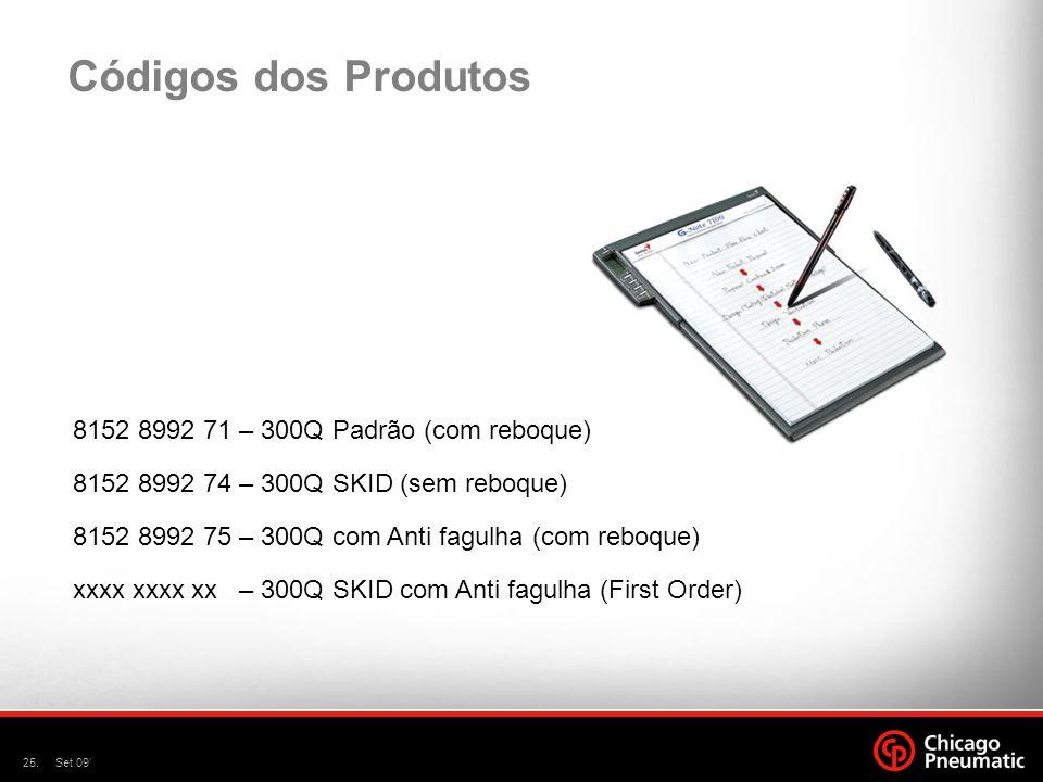 Códigos dos Produtos 8152 8992 71 – 300Q Padrão (com reboque)